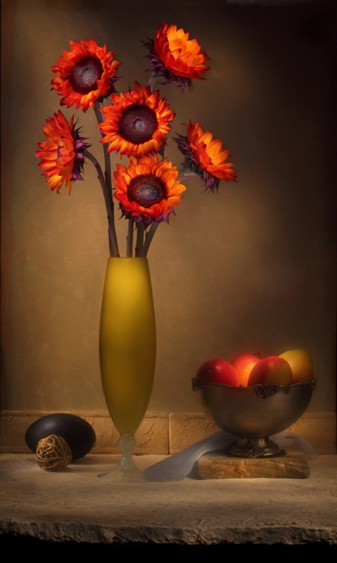 2-Russ-Salamon-Red-flowers-and-plums
